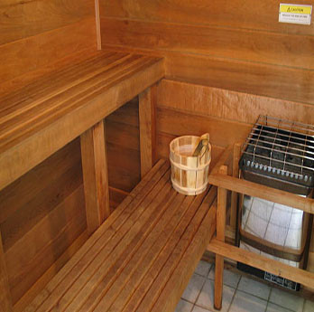 Sauna at Riverton Health & Fitness Center
